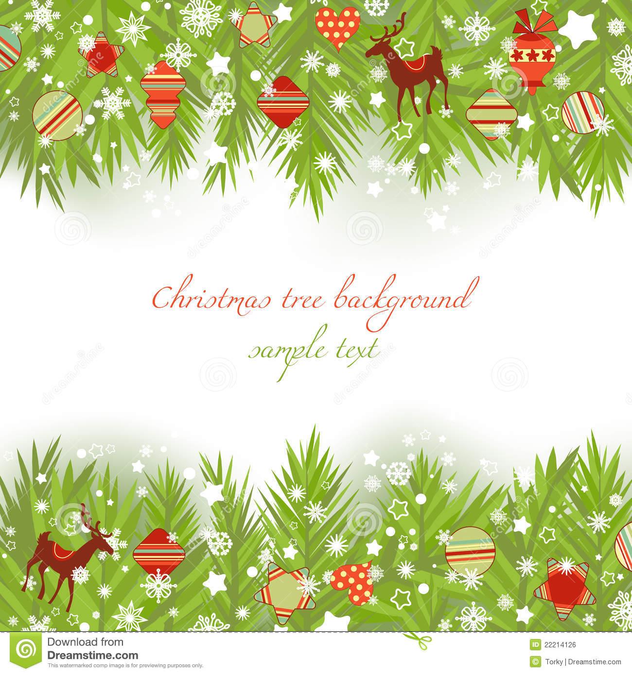 Christmas tree borders stock vector. Illustration of festive.
