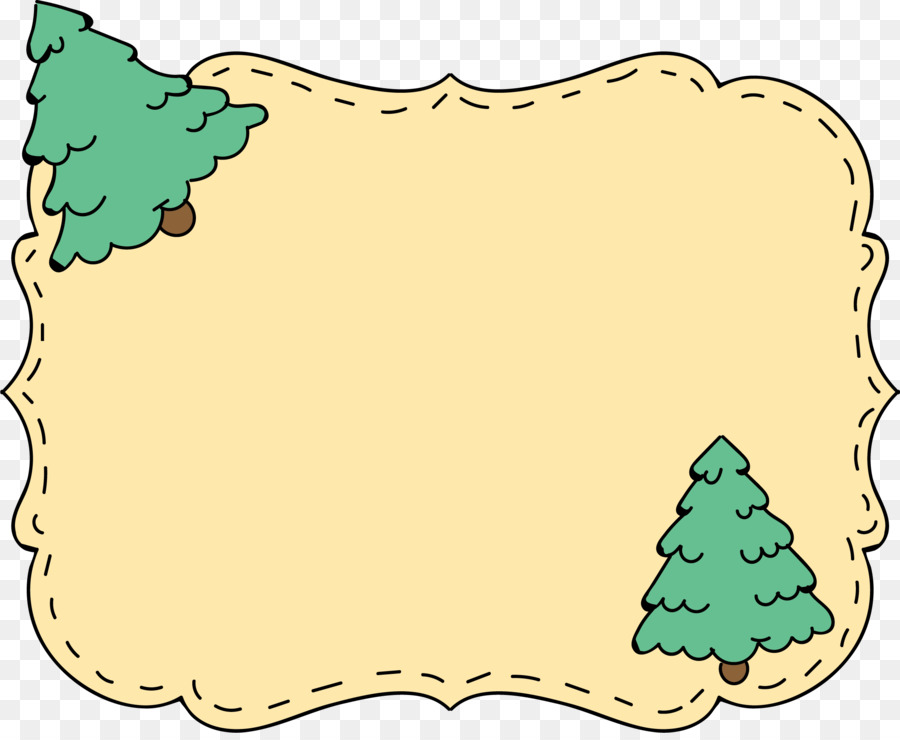 Christmas Tree Border png download.