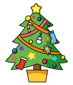 Clipart of christmas tree 1 » Clipart Station.