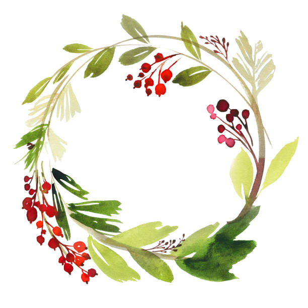 Best Christmas Wreath Illustrations, Royalty.