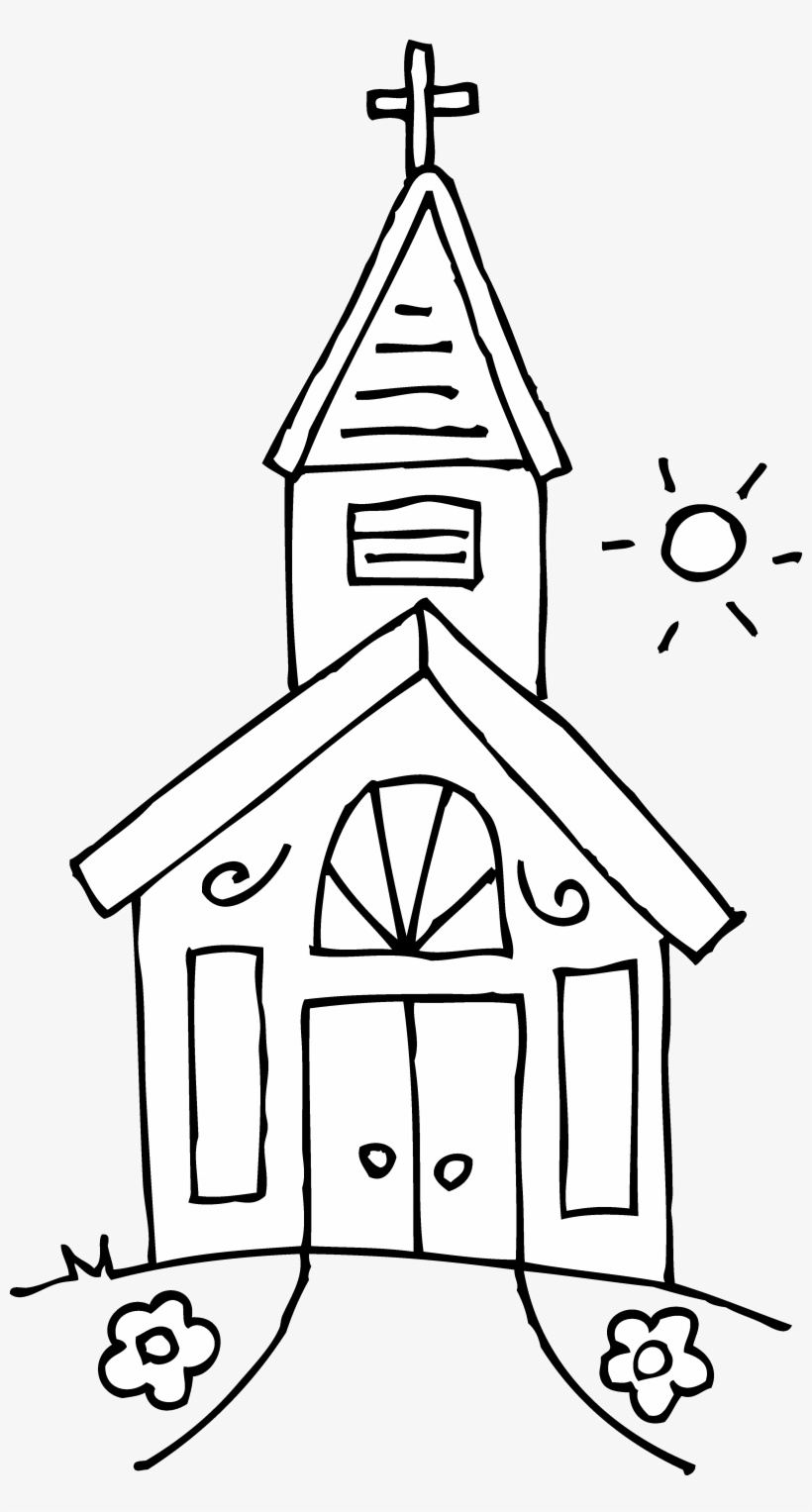 Png Royalty Free Library Black And White Church Clipart.