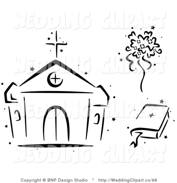 Church Clip Art Black And White.