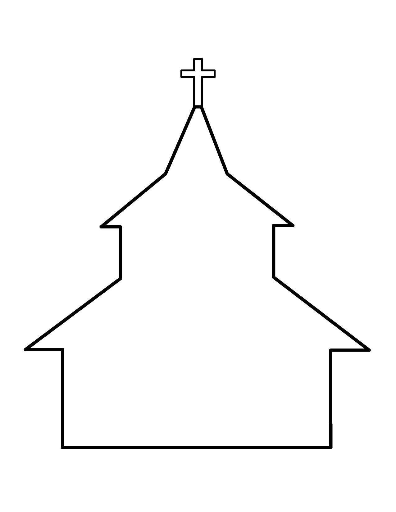 Church Line Drawing.