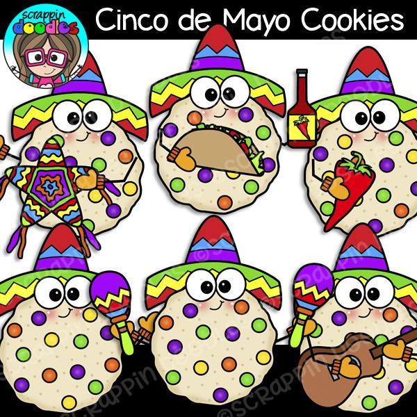 Cinco de Mayo Cookies Clip Art.