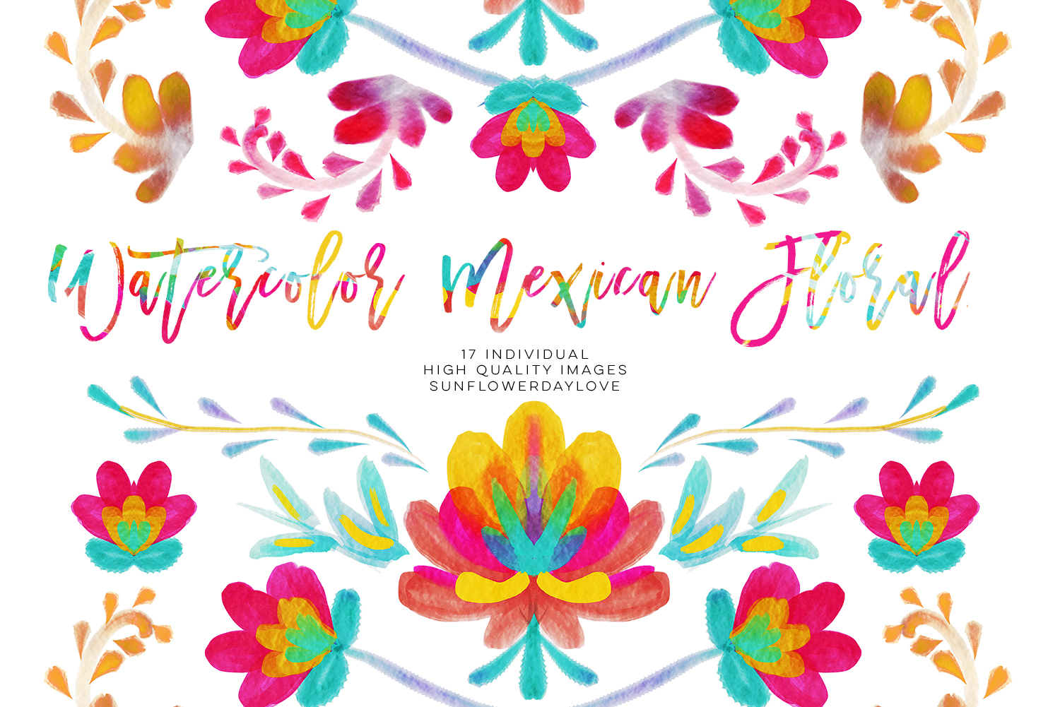 Watercolor mexican floral clipart, fiesta invitation clipart, Mexican  blanket Serape, watercolor hand painted cinco de mayo clipart colorful.