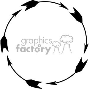 circle black arrow design vector art clipart. Royalty.