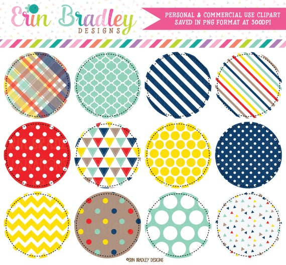 Craft Circles Clipart Graphics Personal and Commercial Use Clip Art.