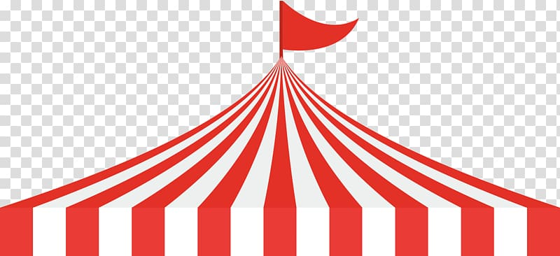 Circus Tent Traveling carnival , Circus roof, red and white striped.