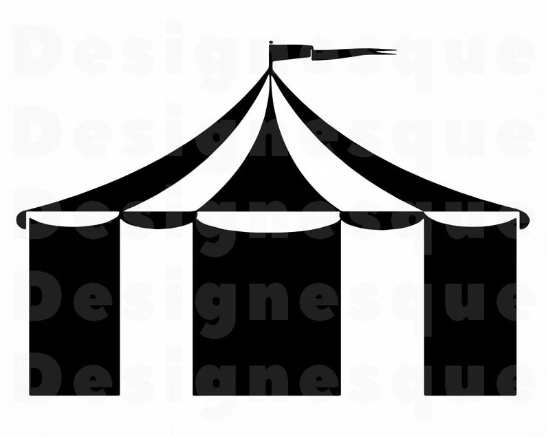 Circus Tent SVG, Circus Tent Clipart, Circus Tent Files for Cricut, Circus  Tent Cut Files For Silhouette, Circus Tent Dxf, Png, Eps, Vector.