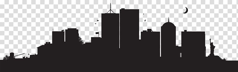 New York City Skyline , City Landscape transparent background PNG.