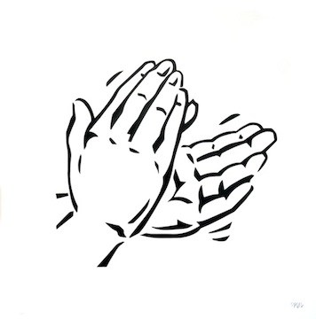 Clapping hands clipart black and white 4 » Clipart Portal.