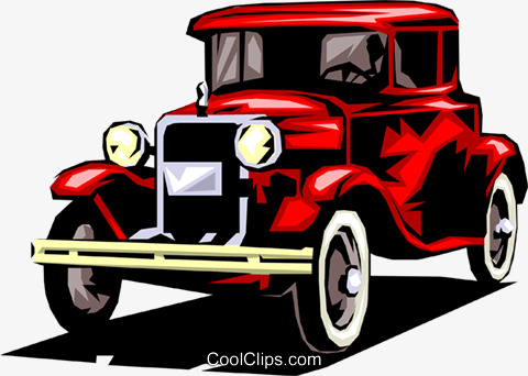 Red Classic Car Clipart & Clip Art Images #27980.