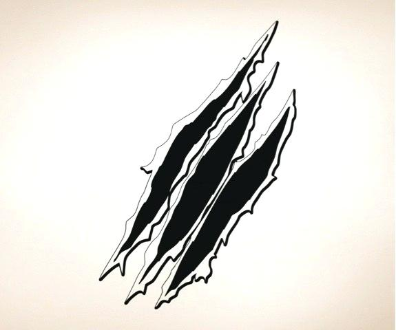 claw marks clipart.
