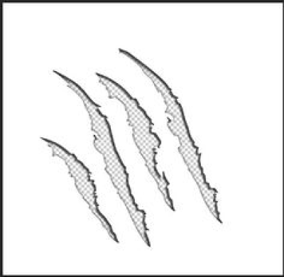 Claw Marks Design clip art PNG.