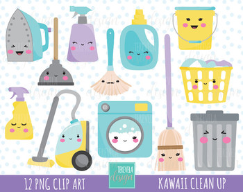 50% SALE CLEANING clipart, clean up graphics, kawaii clean up.