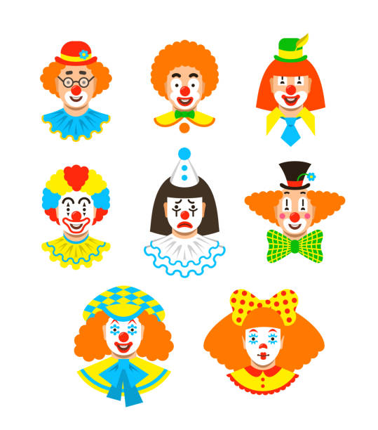 Best Clown Illustrations, Royalty.