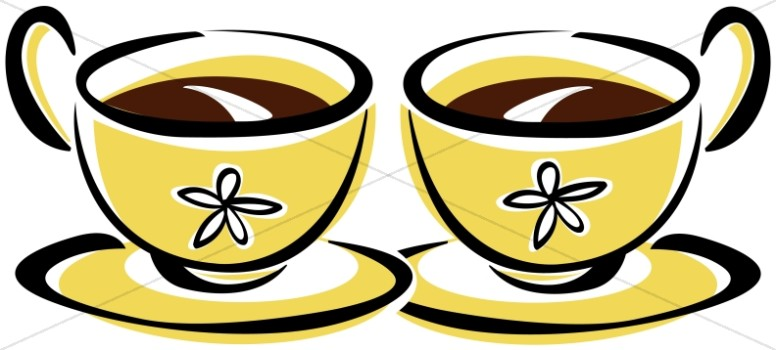 Two Coffee Cups Clipart.
