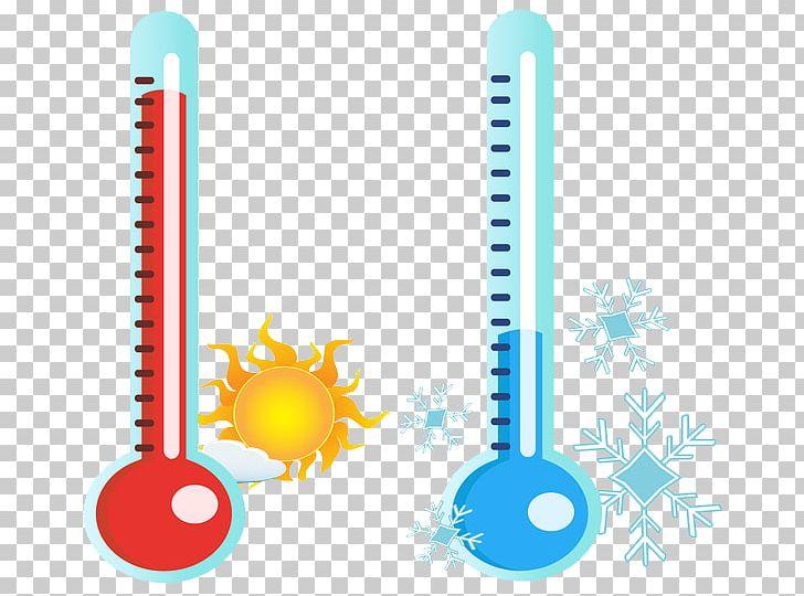 clip art cold thermometer #2