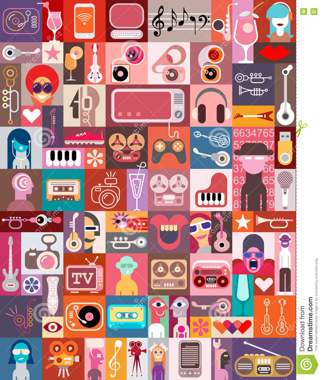 Clip Art Collage stock vector. Illustration of illustration.