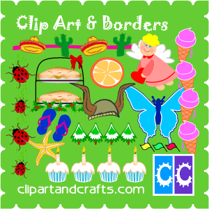Free Clip Art Collections, Scrapbook Word Art, Border Graphics and.