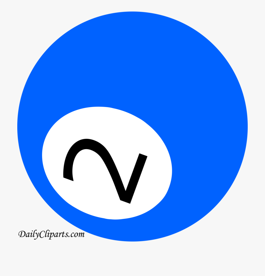 Number 2 Pool Ball Blue Color Clipart Icon.