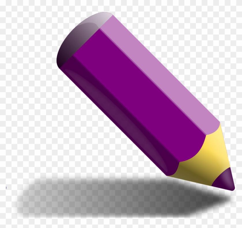Crayon Clipart Purple.