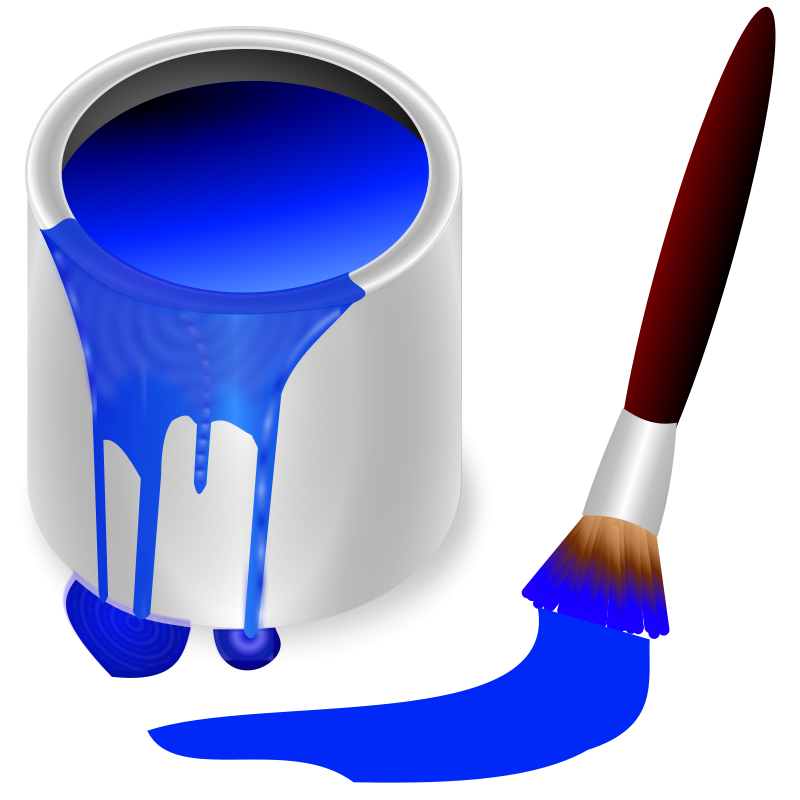 Free Clipart: Color bucket blue.
