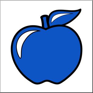 Clip Art: Colors: Apple 09: Blue Color I abcteach.com.