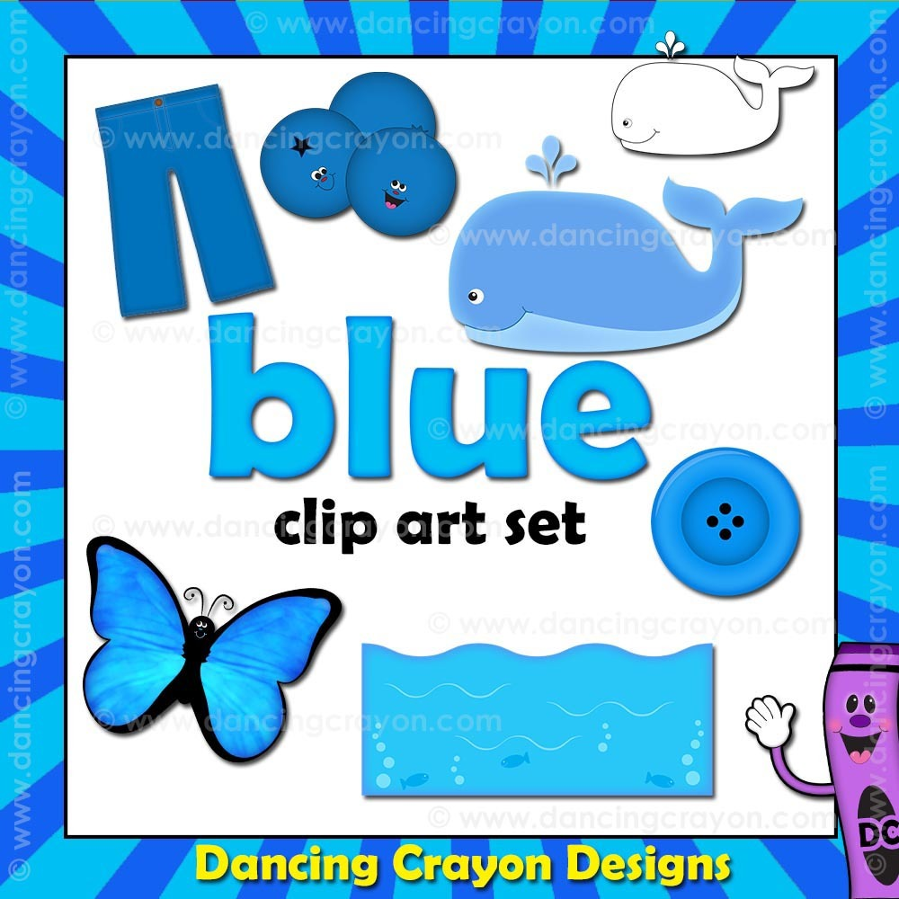 Blue Clip Art.