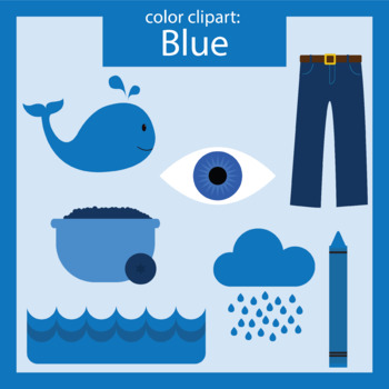 Color Clip art: blue objects.