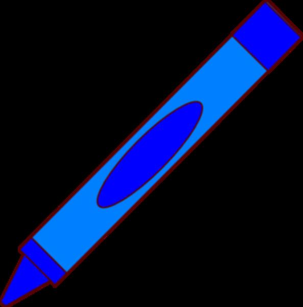 Free crayon clipart blue color.