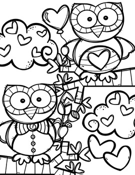 FREE Valentine Coloring Pages {Made by Creative Clips Clipart}.