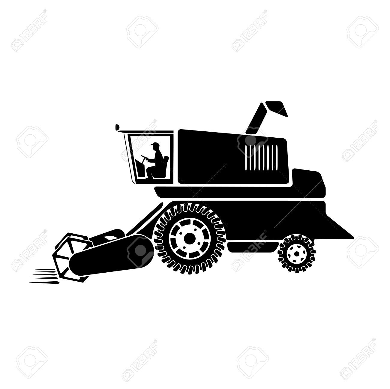 Combine harvester clipart black and white 6 » Clipart Portal.