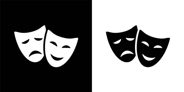Best Comedy And Tragedy Masks Illustrations, Royalty.