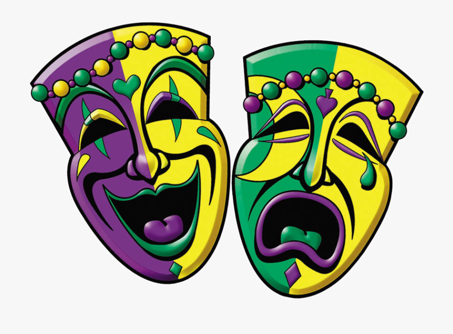 Mardi Gras Comedy And Tragedy.