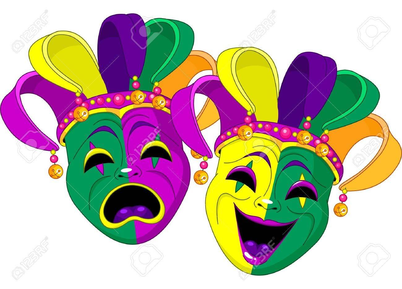 Mardi Gras Comedy and Tragedy Masks.