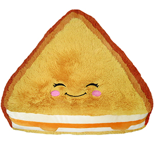 Comfort food grilled cheese an adorable fuzzy plush to snurfle clip.