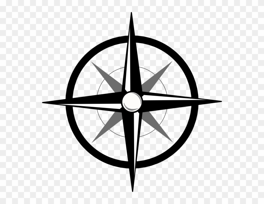 Compass Rose Clip Art Free Vector In Open Office Drawing.