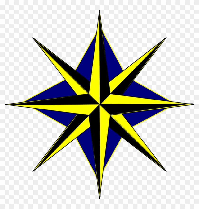 Clip Art Compass Rose Photo Medium Size.