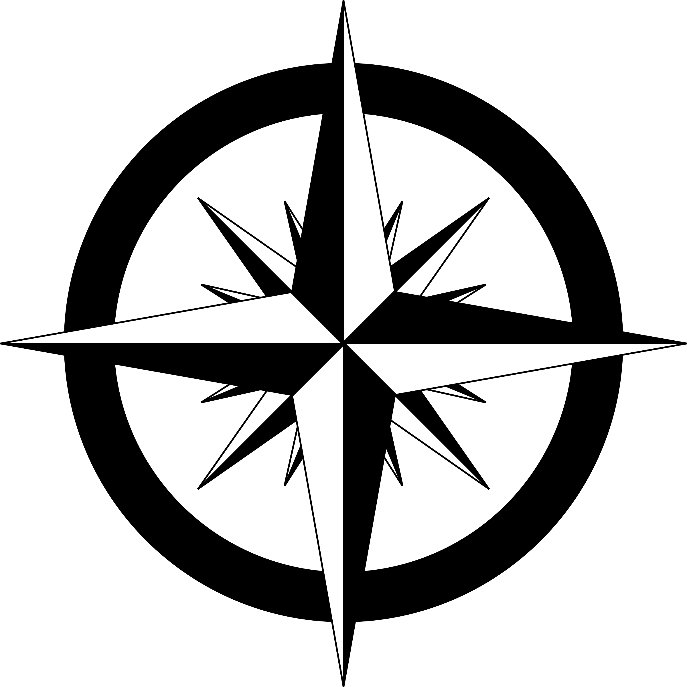 Compass Rose Vector Clipart image.