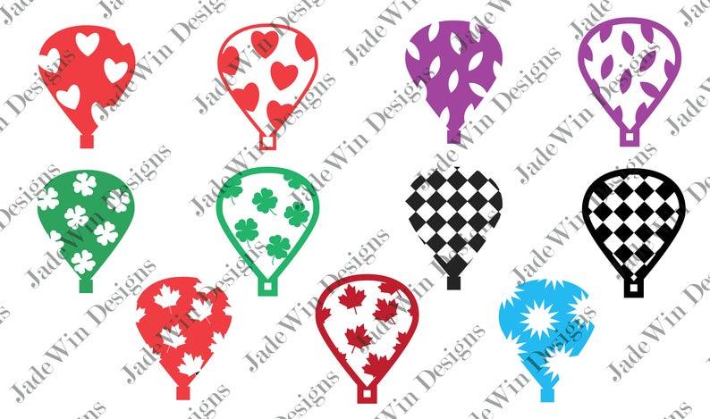 Hot Air Balloons Compilation Clipart.