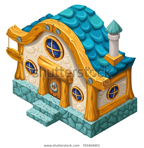 3d Isometric Cottage Computer Games Vector Stock Vector (Royalty.