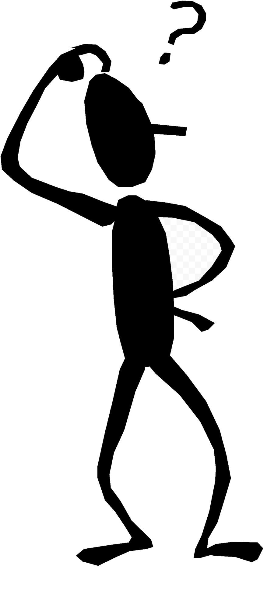 Question Mark Kiss Stick Figure Cartoon Clip Art Confused Clipart.