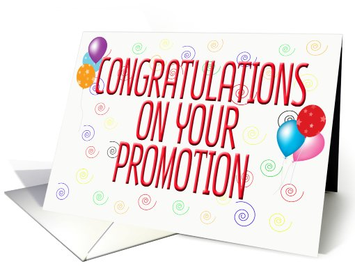 Congratulations On Your Promotion Clipart For Free 2744.