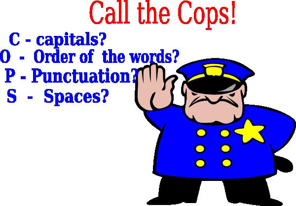 Call The Cops! Clip Art at Clker.com.