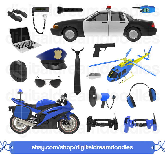 Police Clipart, Cop Clipart, Officer Clip Art, Chopper Graphic.