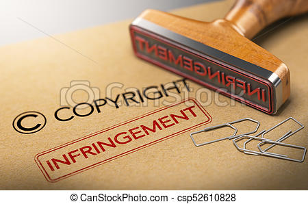 Intellectual Property Rights Concept, Copyright Infringement.