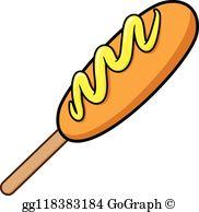 Corn Dog Clip Art.