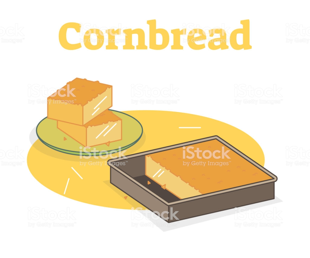 Cornbread Vector Illustration Stock Illustration.