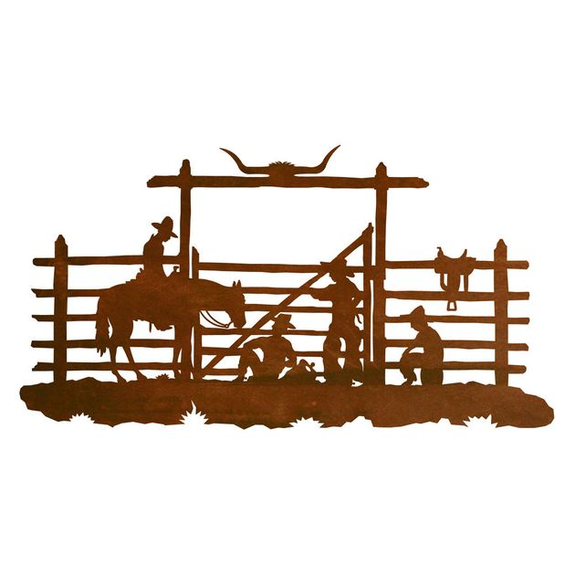Cowboy Corral Metal Wall Art.